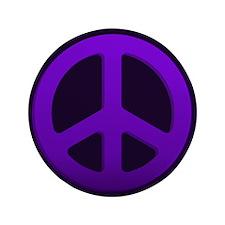 "Purple Fade Peace Sign 3.5"" Button (100 pack)"
