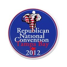 Republican Convention Round Ornament