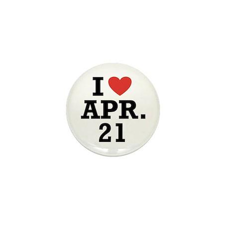 I Heart April 21 Mini Button (10 pack)