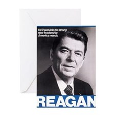 ART Reagan Greeting Card