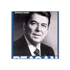 "ART Reagan Square Sticker 3"" x 3"""