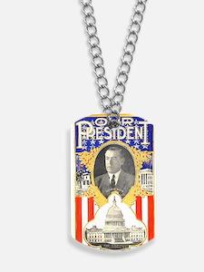 ART Our President Woodrow Wilson Dog Tags