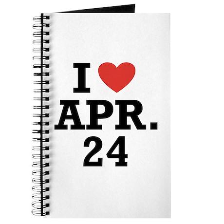 I Heart April 24 Journal
