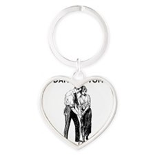 Women and Golf Heart Keychain
