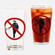 Pepper Spray Cop Drinking Glass