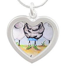 be ewe kr Silver Heart Necklace