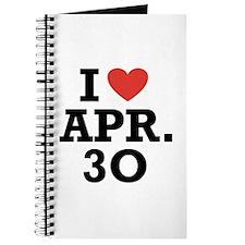 I Heart April 30 Journal