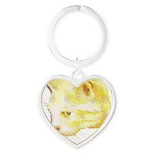 Taffy Cat Heart Keychain