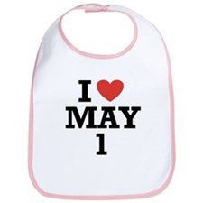 I Heart May 1 Bib