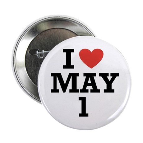 "I Heart May 1 2.25"" Button (100 pack)"
