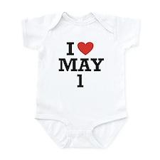 I Heart May 1 Infant Bodysuit
