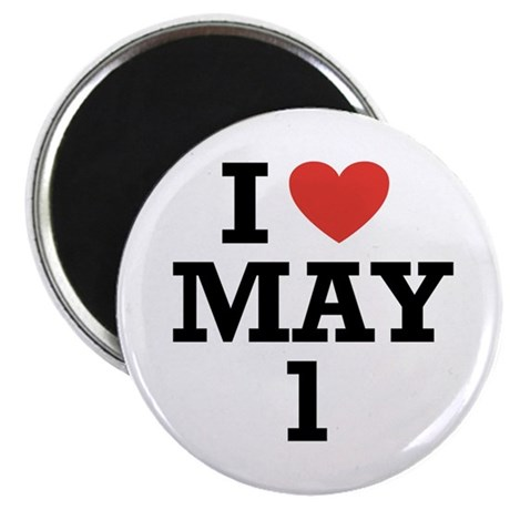 "I Heart May 1 2.25"" Magnet (100 pack)"