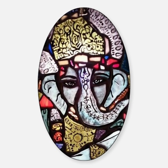 Ganesh Sticker (Oval)