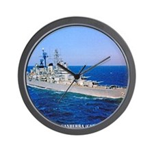 canberra framed panel print Wall Clock