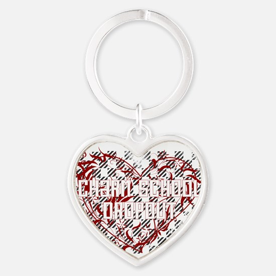 Charm School Dropout Heart Keychain