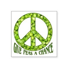 """GivePeasachance Square Sticker 3"""" x 3"""""""