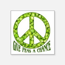 "GivePeasachance Square Sticker 3"" x 3"""