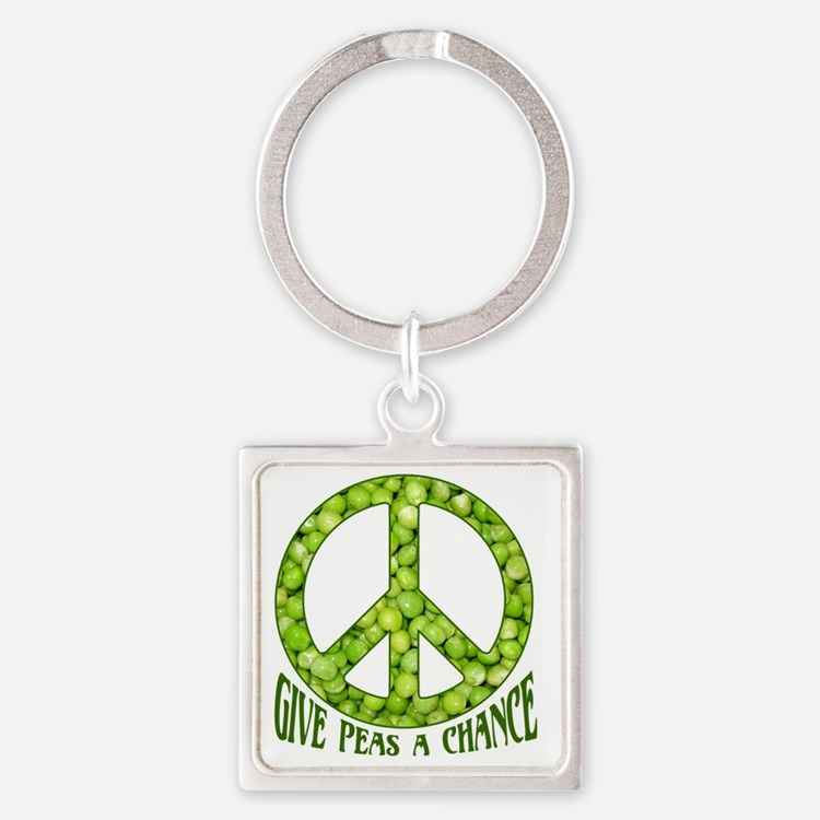 GivePeasachance Square Keychain