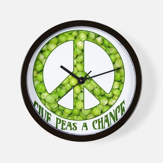 GivePeasachance Wall Clock