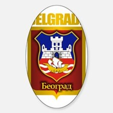 Belgrade Gold Sticker (Oval)