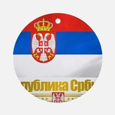 Serbia (Flag 10) Round Ornament