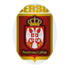 Serbia Gold Oval Ornament