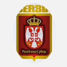 Serbia Gold Oval Ornament
