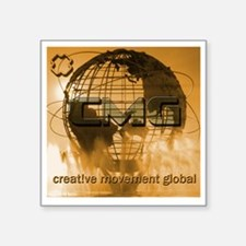 "Creative Movement Global Gl Square Sticker 3"" x 3"""
