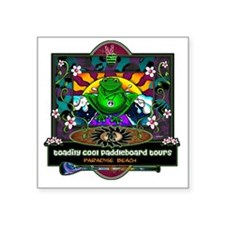 "paddle frog final Square Sticker 3"" x 3"""