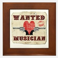 wanted_musician Framed Tile