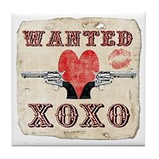 wanted_xoxo Tile Coaster