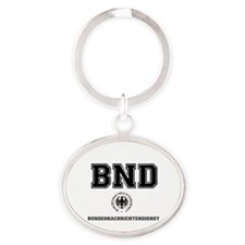 BND - GERMAN SPY AGENCY Oval Keychain