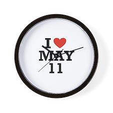 I Heart May 11 Wall Clock