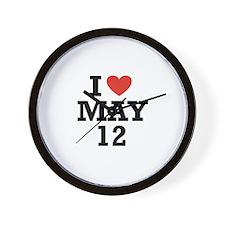 I Heart May 12 Wall Clock