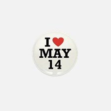 I Heart May 14 Mini Button (10 pack)