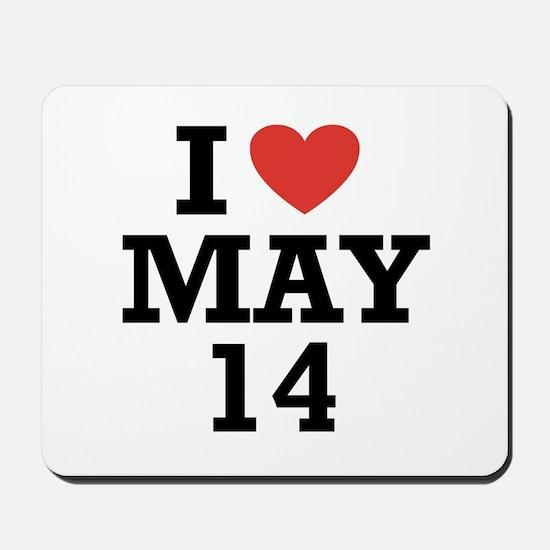 I Heart May 14 Mousepad