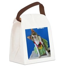 Funny greeting card Canvas Lunch Bag