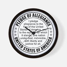 oct_pledge_of_allegiance_3 Wall Clock