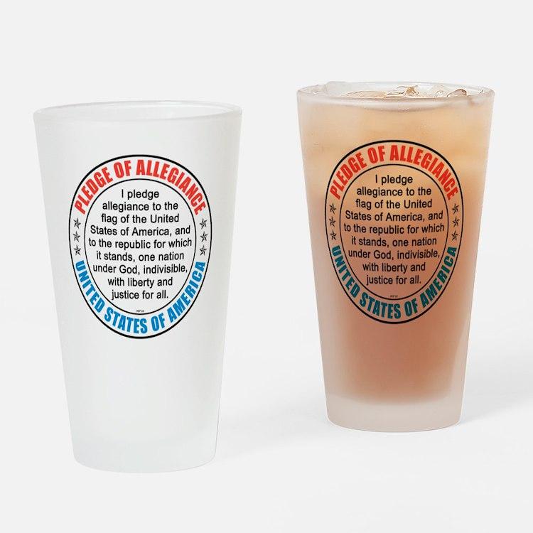 oct_pledge_of_allegiance_2 Drinking Glass