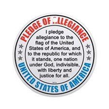 oct_pledge_of_allegiance_2 Round Ornament