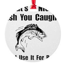 Fish Bait Black Ornament
