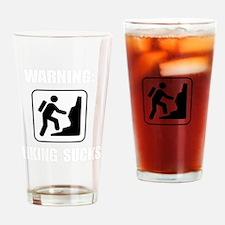 Hiking Sucks White Drinking Glass
