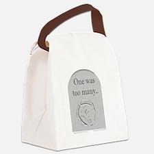 1wasManyGrey Canvas Lunch Bag