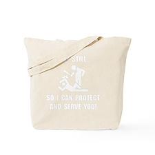 Protect Serve White Tote Bag