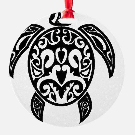 Sea Turtle Black Ornament