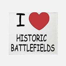 HISTORIC_BATTLEFIELDS Throw Blanket