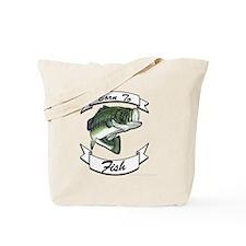 born to fish bass dark Tote Bag