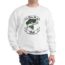 born to fish bass dark Sweatshirt