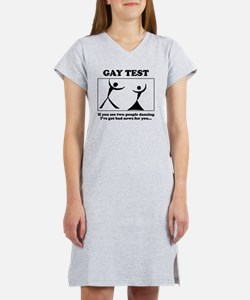 gay test Women's Nightshirt