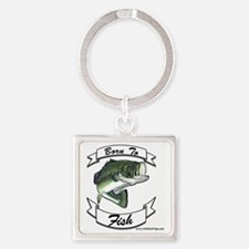 born to fish bass Square Keychain
